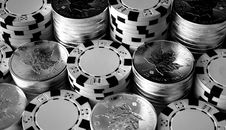 Free Silver Poker Royalty Free Stock Photography - 87380297