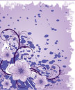 Free Purple Flowers On Grunge Background Stock Images - 8740274