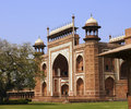 Free Side View Of The Entrance To The Taj Mahal At Agra Stock Image - 8745601