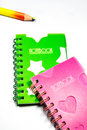 Free Back To School Notebook And Pencil Royalty Free Stock Photography - 8745987