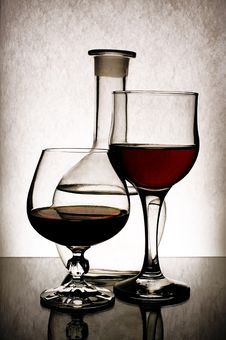 Free Two Goblets. Royalty Free Stock Image - 8740056