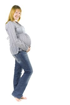 Free Young Pregnant Woman Stock Image - 8740711