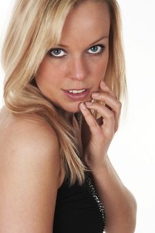 Blond Beautiful Girl Stock Photo