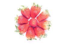 Free Strawberry Isolated On White Royalty Free Stock Photos - 8743348