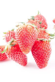 Free Strawberry Isolated On White Stock Photo - 8743360