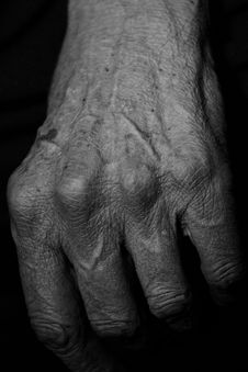 Senior S Aged Hand Royalty Free Stock Photo
