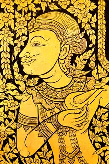 Free Traditional Thai Style Painting Royalty Free Stock Photography - 8743877