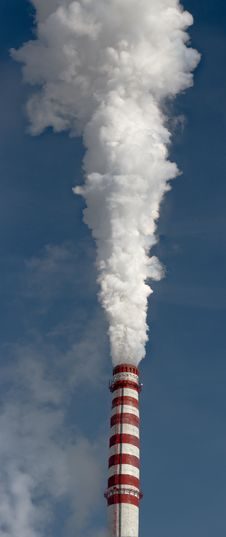 Free Power Plant Smoking Stack Royalty Free Stock Photo - 8744765