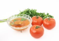 Free Soup With Tomatoes Stock Photo - 8745560