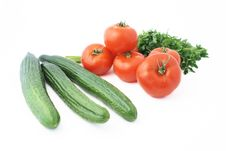 Cucumbers And Tomatoes Royalty Free Stock Photos