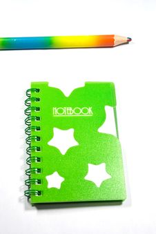 Free Back To School Notebook And Pencil Stock Images - 8745974