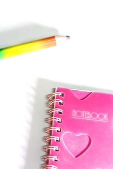 Free Back To School Notebook And Pencil Stock Photography - 8745992
