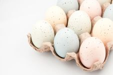 Free Easter Eggs In Crate Stock Photos - 8746743