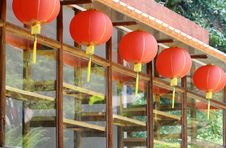 Free House With Red Lanterns Royalty Free Stock Photos - 8746778