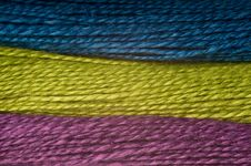 Free Three Colors Of Threads Royalty Free Stock Image - 8746856