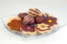 Marzipan Cookies Stock Photo
