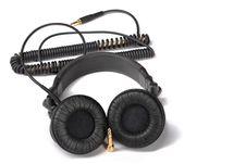 Black Headphones Stock Photos