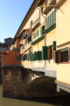 Free Medieval Bridge Ponte Vecchio In Florence Stock Photo - 8748940