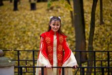 Free Lady In Autumn Forest Royalty Free Stock Images - 8749249