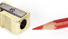 Free Pencil And Sharpener Stock Image - 8749601