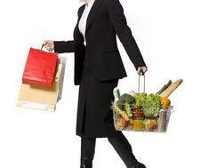 Free Shopping Woman Royalty Free Stock Photo - 8749645