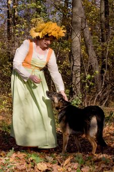 Free Woman And Dog Royalty Free Stock Photo - 8749655