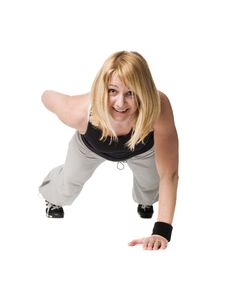 Free Woman Doing Push Ups Stock Photography - 8749752