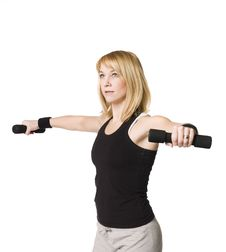 Free Woman Working Out Stock Image - 8749791