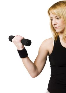 Free Woman Working Out Royalty Free Stock Image - 8749796