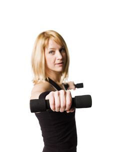 Free Woman Working Out Stock Image - 8749801