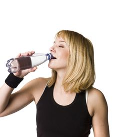 Free Girl Drinking Water Stock Photos - 8749823