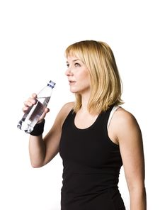 Free Girl Drinking Water Stock Image - 8749831