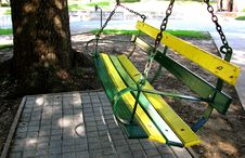 Free Swing My Green And Gold Afar Royalty Free Stock Image - 87433756