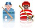 Free People Icons Baseball And Hockey Stock Photo - 8750100