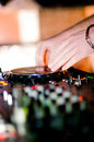 Free Close-up Of Deejays Hand Royalty Free Stock Photography - 8757887
