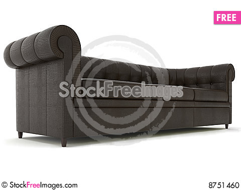 Classic couch Stock Photo