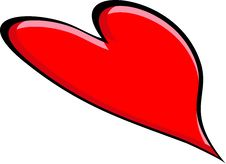 Free Big Red Heart Royalty Free Stock Photos - 8750398