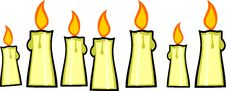 Free Seven Burning Candles Stock Photos - 8750513