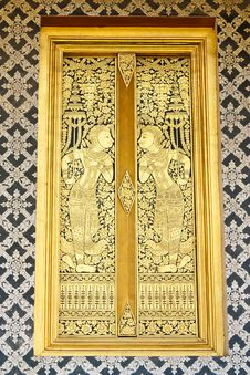 Free Tradtional Thai Style Church Window Stock Image - 8750791