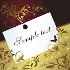 Free Space For The Text With An Ornament Stock Images - 8750854