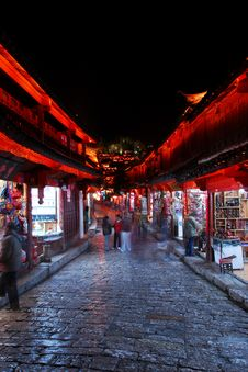 Free Night Lijiang, Shopping Royalty Free Stock Photography - 8751597