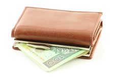 Free Polish Banknote In Wallet Royalty Free Stock Images - 8751639