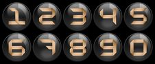 Free Black Buttons And Numbers On It Stock Image - 8752901