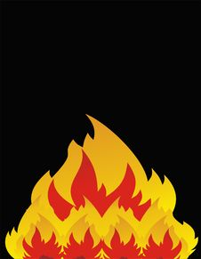 Free Flames Out Of Control Royalty Free Stock Photos - 8753688
