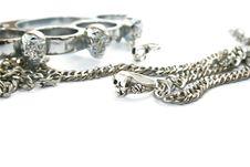 Skull Rings,kastet,chain Royalty Free Stock Image
