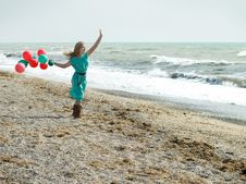 Free Girl With Balloons Stock Photo - 8754880
