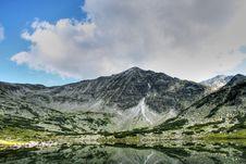The Glacial Lake In Rila Stock Photos