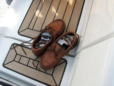 Free Shoes On Deck Stock Photography - 8756382