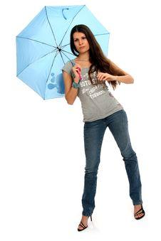 Free Fashion Model With Umbrella Stock Photos - 8756653