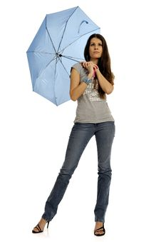 Free Fashion Model With Umbrella Royalty Free Stock Photography - 8756777